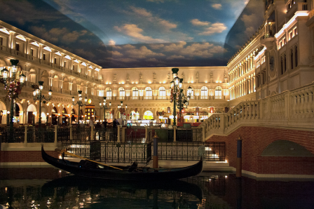 The Canal Stores at the Venetian.  A picture shot by  Aditya Manohar.